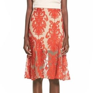 8b2678a92 NWT- MINKPINK Crime of Passion' Embroidered Skirt!